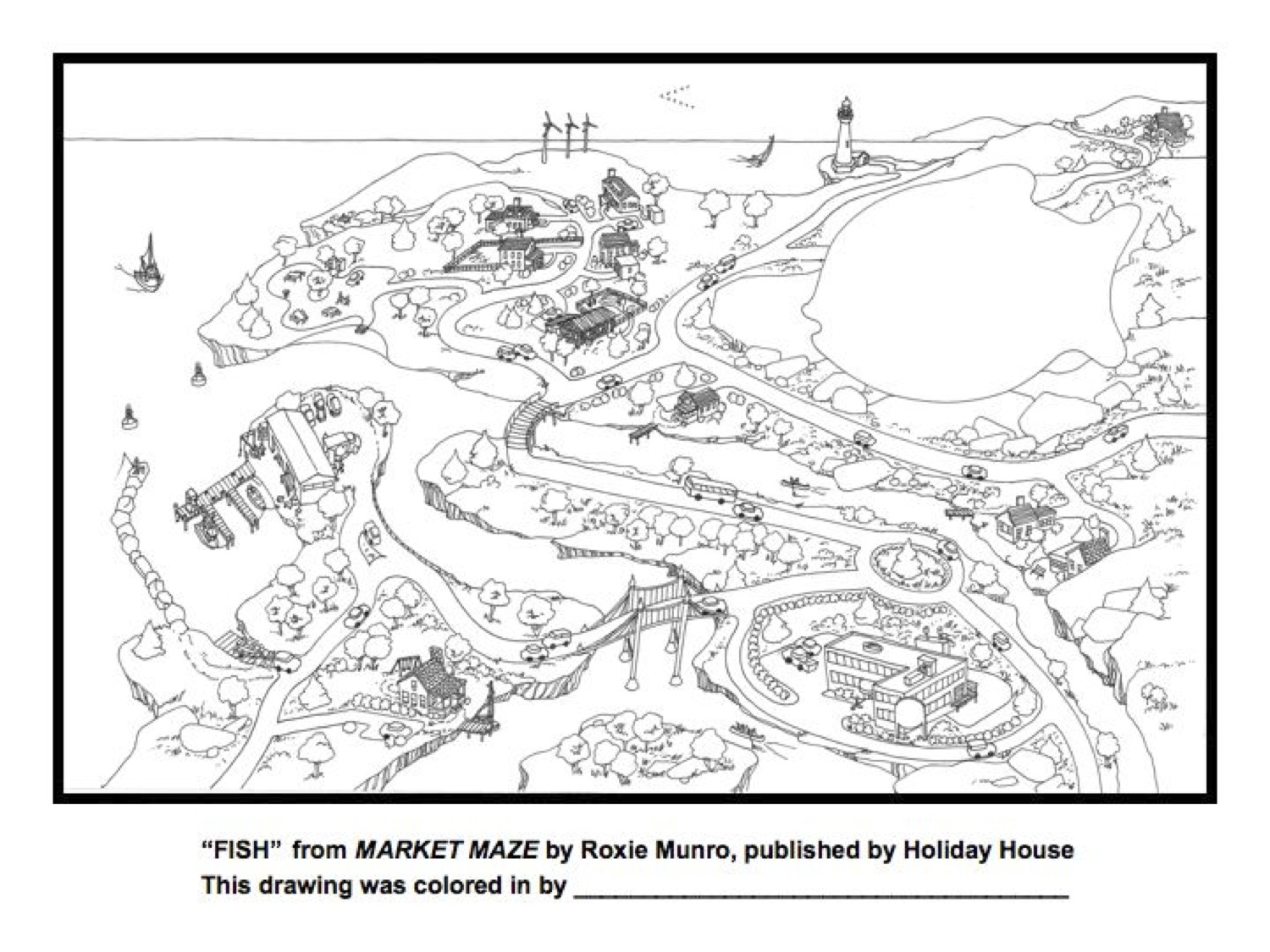 mazes and coloring pages roxie munro author artist